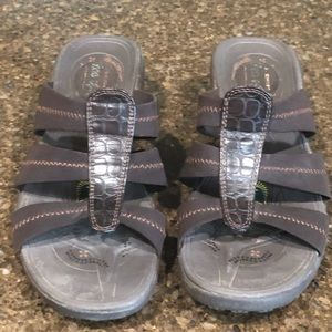 Skechers Chocolate Brown Tone Up Sandals 8